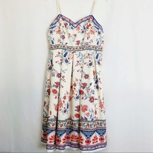 Anthropology Champagne and Strawberries Dress